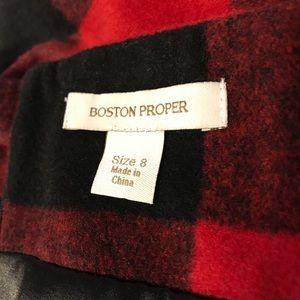 07abbbff6 Boston Proper Skirts - Boston Proper Buffalo Plaid Skirt